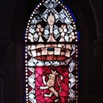 Escudo de León en la vidriera de la catedral